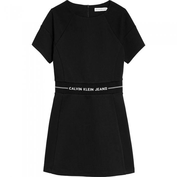 [해외]캘빈클라인 Intarsia Logo Waist Punto Short Dress 15138049890 Ck Black