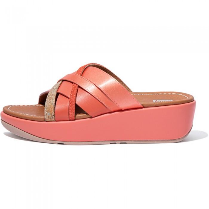 [해외]핏플랍 Kessia Slide Coral Pink