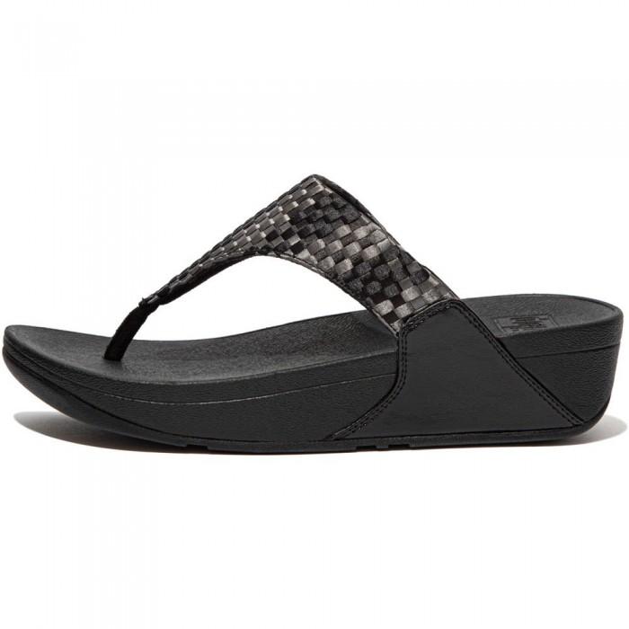 [해외]핏플랍 Lulu Silky Weave Flip Flops Black