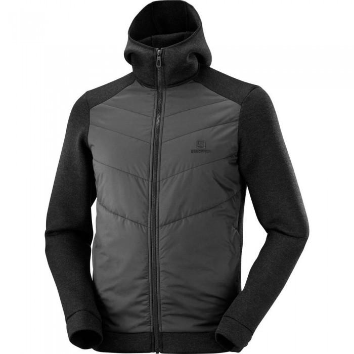 [해외]살로몬 Sight Hybrid Full Zip Sweatshirt 5138167244 Black / Black / Heather