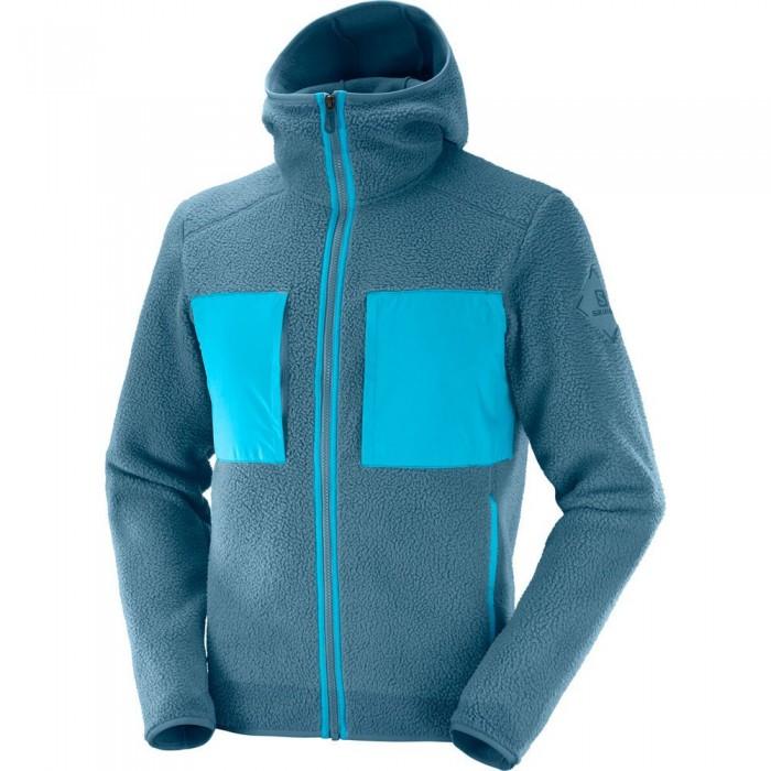 [해외]살로몬 Snowshelter Ted Full Zip Fleece 5138167266 Mallard Blue