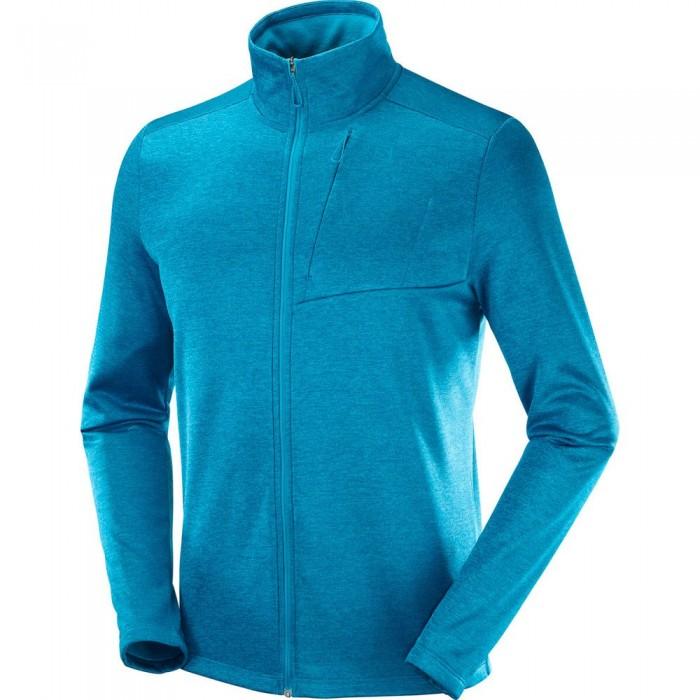 [해외]살로몬 Transition Full Zip Sweatshirt 5138167303 Barrier Reef / Heather