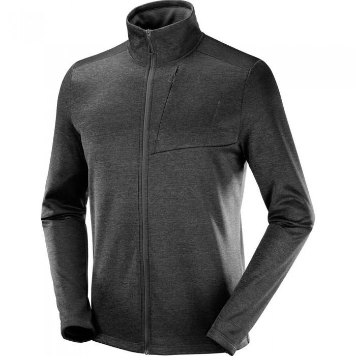 [해외]살로몬 Transition Full Zip Sweatshirt 5138167304 Black / Heather
