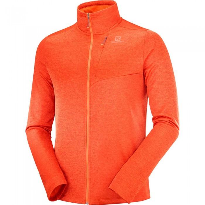 [해외]살로몬 Transition Full Zip Sweatshirt 5138167308 Red Orange / Heather