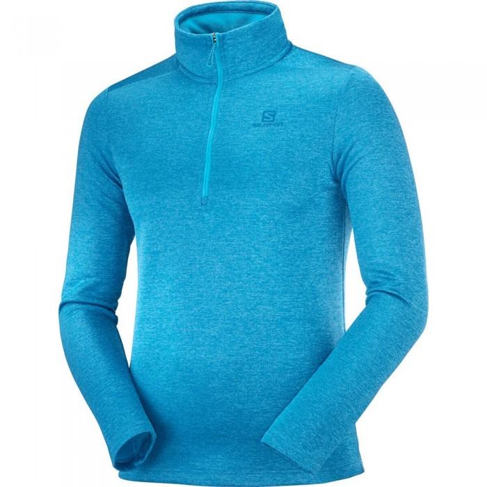 [해외]살로몬 Transition Half Zip Sweatshirt 5138167309 Barrier Reef / Heather