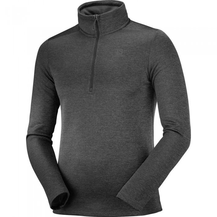 [해외]살로몬 Transition Half Zip Sweatshirt 5138167311 Black / Heather
