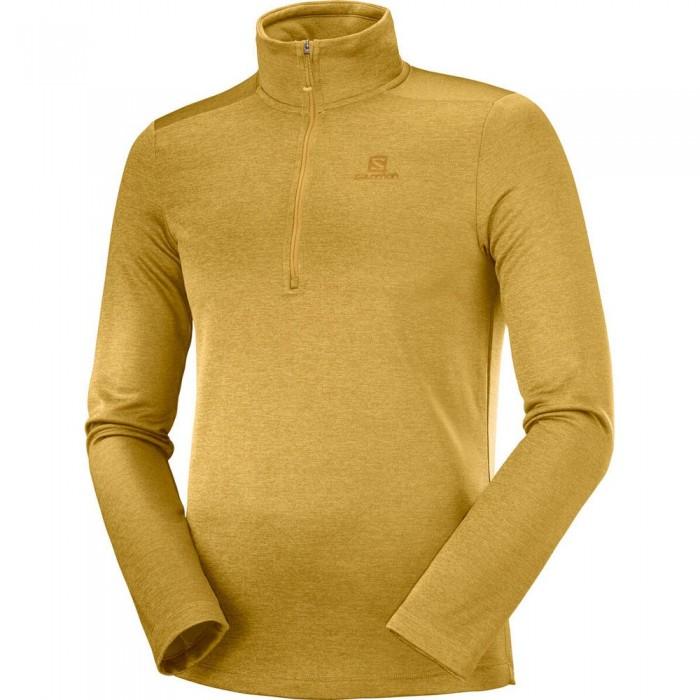 [해외]살로몬 Transition Half Zip Sweatshirt 5138167313 Cumin / Heather