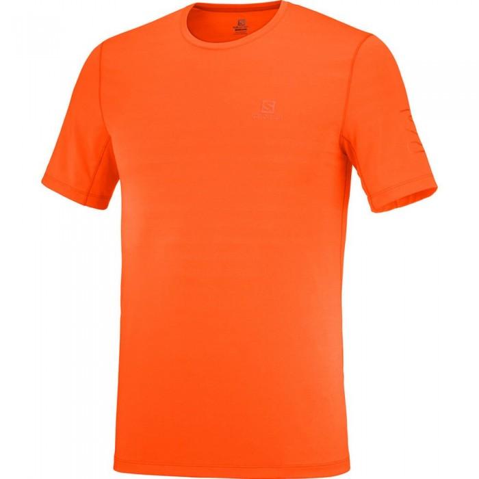 [해외]살로몬 XA Short Sleeve T-Shirt 5138167342 Pureed Pumpkin / Red Orange / Heather