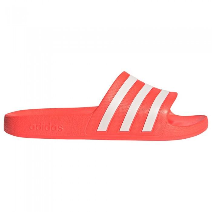 [해외]아디다스 Adilette Aqua Flip Flops 6138104268 Solar Red / Ftwr White / Solar Red