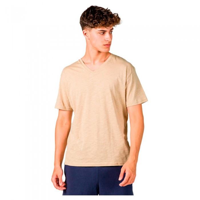 [해외]GSA Organic Cotton V Neck Short Sleeve T-Shirt 7138192717 Beige