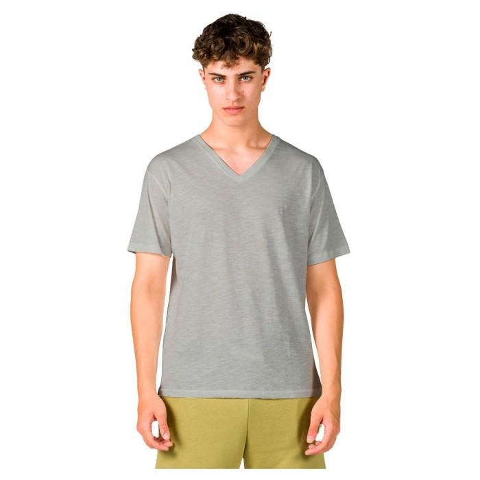 [해외]GSA Organic Cotton V Neck Short Sleeve T-Shirt 7138192718 Grey Melange