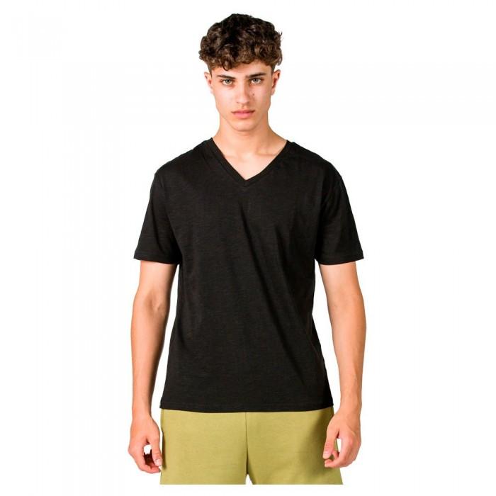 [해외]GSA Organic Cotton V Neck Short Sleeve T-Shirt 7138192720 Jet Black