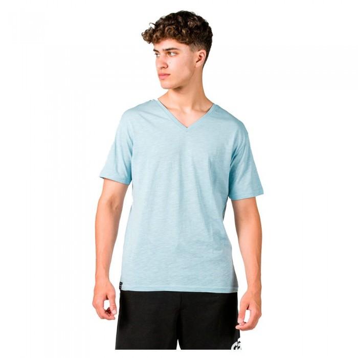 [해외]GSA Organic Cotton V Neck Short Sleeve T-Shirt 7138192721 Light Blue