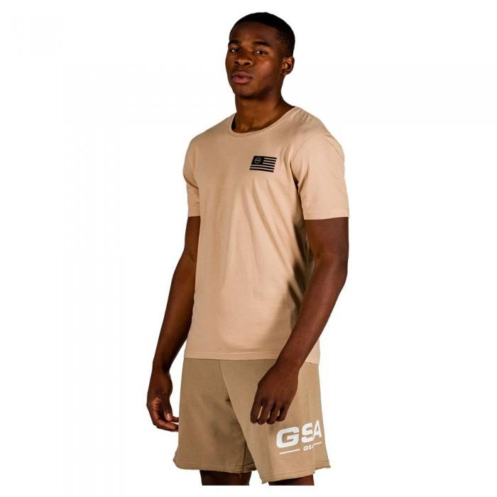 [해외]GSA OrganicPlus+ Cotton Printed Short Sleeve T-Shirt 7138192734 Beige
