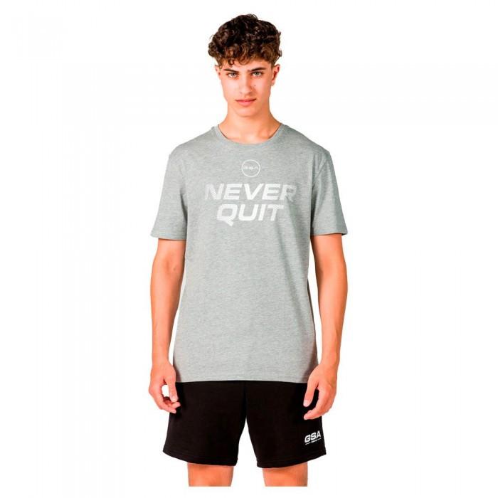 [해외]GSA OrganicPlus+ Cotton Printed Short Sleeve T-Shirt 7138192735 Grey Melange