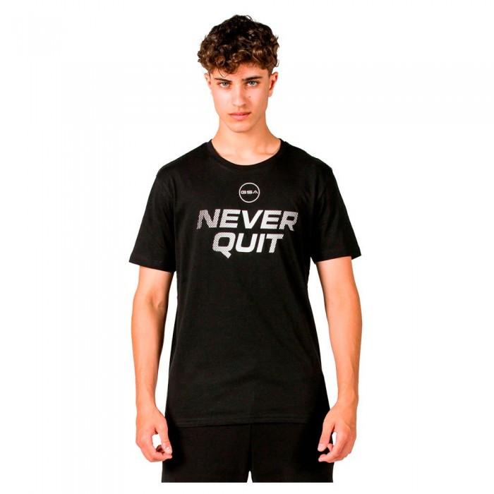 [해외]GSA OrganicPlus+ Cotton Printed Short Sleeve T-Shirt 7138192737 Jet Black