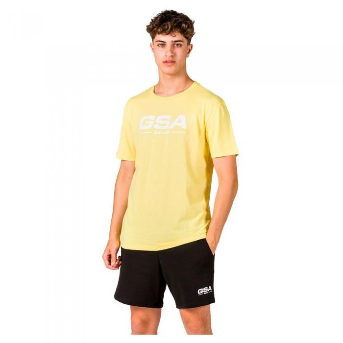 [해외]GSA OrganicPlus+ Cotton Printed Short Sleeve T-Shirt 7138192741 Yellow