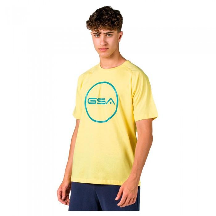 [해외]GSA Superlogo Circle Short Sleeve T-Shirt 7138192746 Yellow