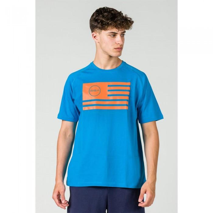 [해외]GSA Superlogo Flag Short Sleeve T-Shirt 7138192747 Blue