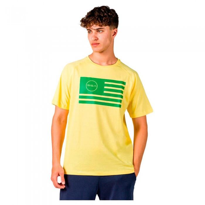 [해외]GSA Superlogo Flag Short Sleeve T-Shirt 7138192754 Yellow