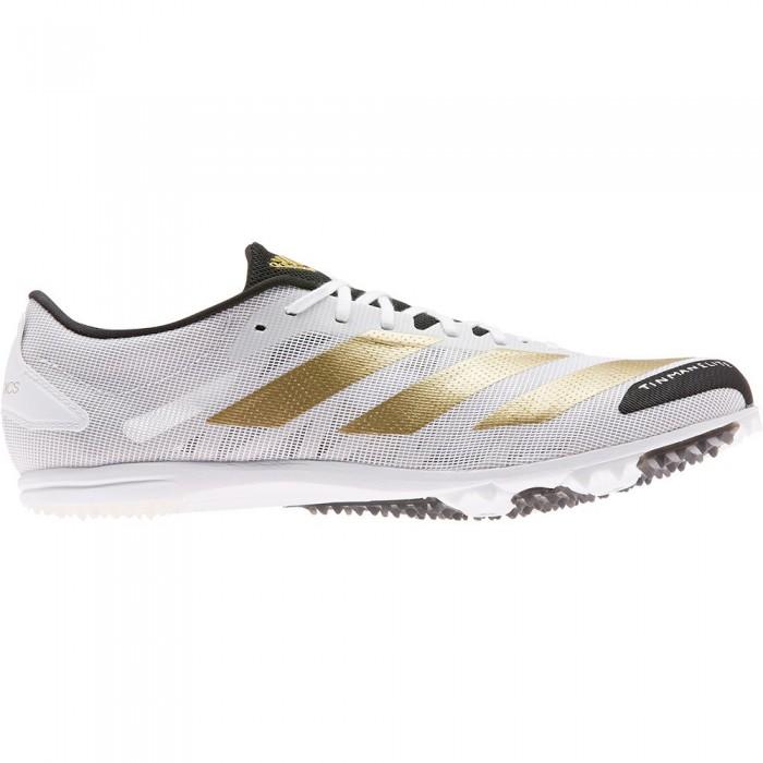 [해외]아디다스 Adizero XCS Tme Running Shoes 6138104148 Ftwr White / Gold Metalic / Core Black