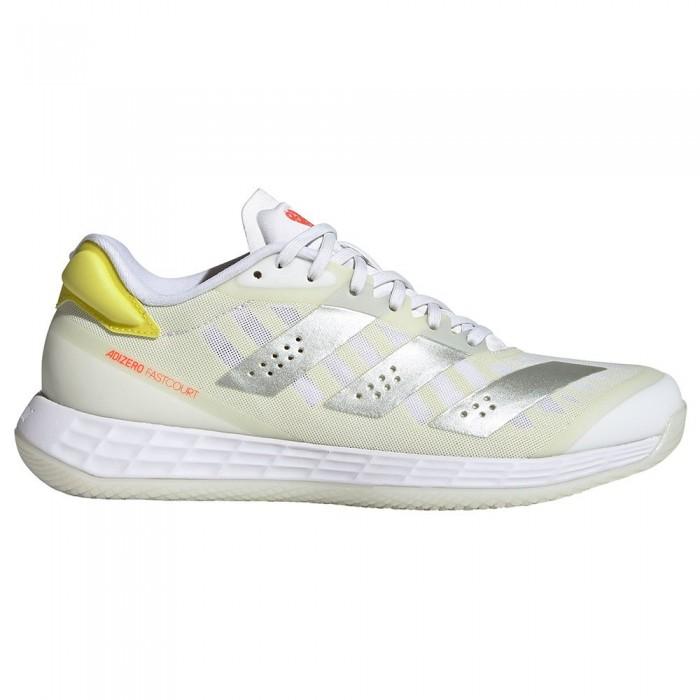 [해외]아디다스 BADMINTON Adizero Fastcourt 2.0 Indoor Shoes 12138103900 Ftwr White / Matte Silver / Acid Yellow