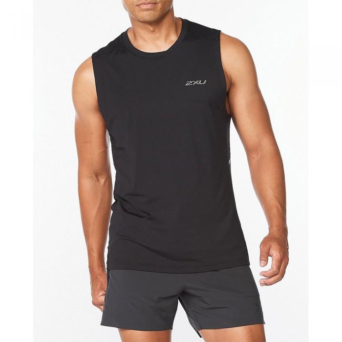 [해외]2XU Motion Sleeveless T-Shirt 6138230941 Black / Carbon Fibre