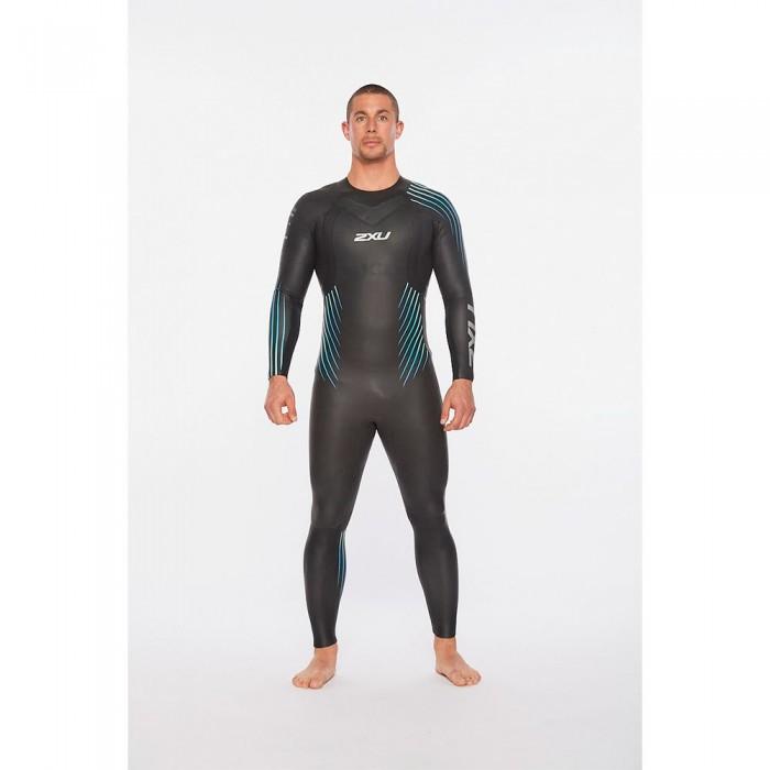 [해외]2XU P:1 Propel Long Sleeve Long Trisuit 6138230945 Black / Blue Ombre