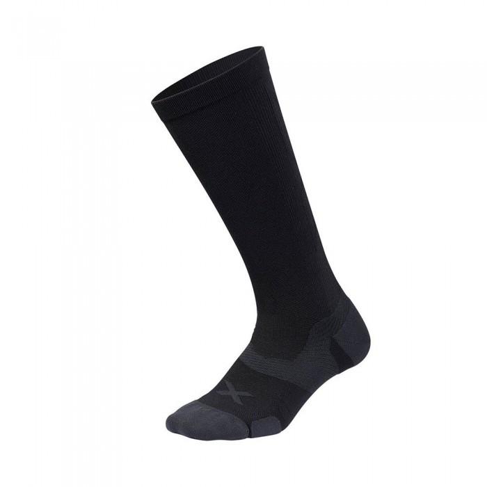 [해외]2XU Vector Cushion High Socks 6138230987 Black / Titanium