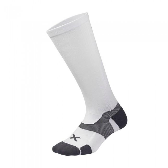 [해외]2XU Vector Cushion High Socks 6138230988 White / Grey