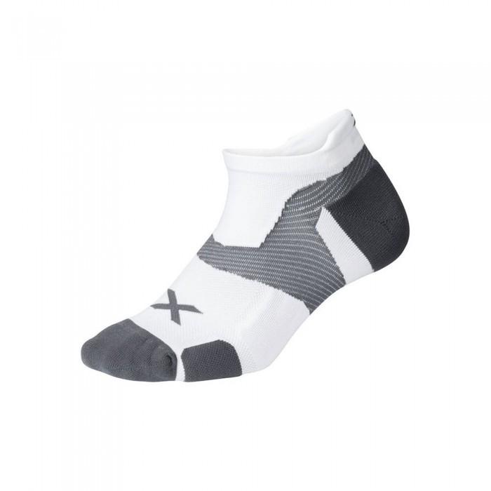 [해외]2XU Vector Cushion Short Socks 6138230991 White / Grey