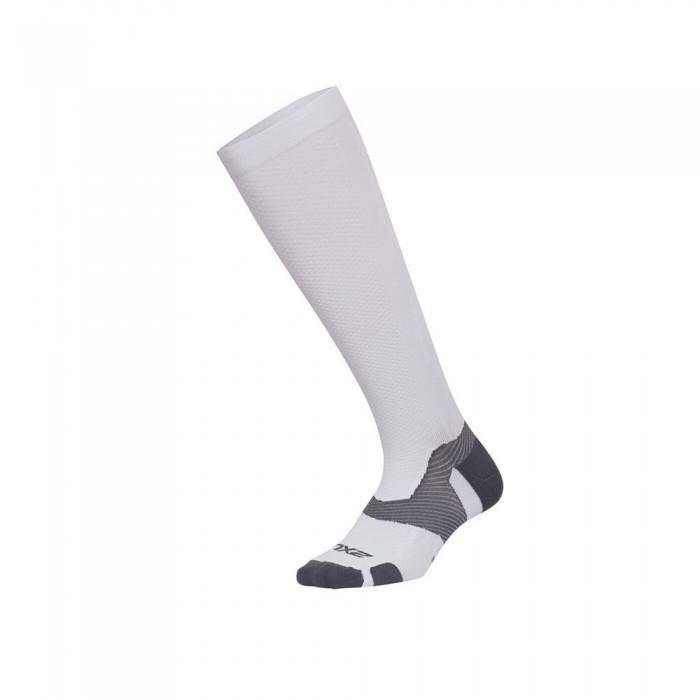 [해외]2XU Vector Light Cush High Socks 6138230993 White / Grey