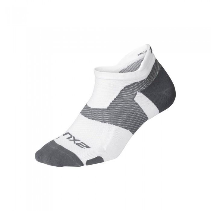 [해외]2XU Vector Light Cushion Short Socks 6138230994 White / Grey