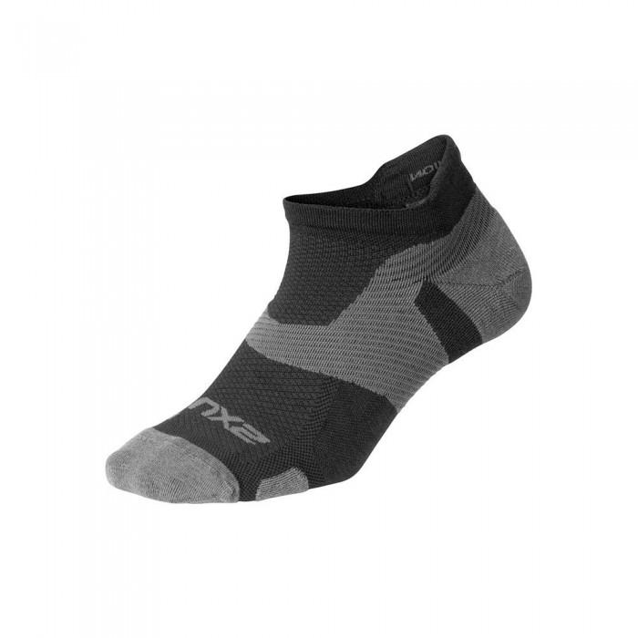 [해외]2XU Vector Merino Light Short Socks 6138230995 Black / Titanium
