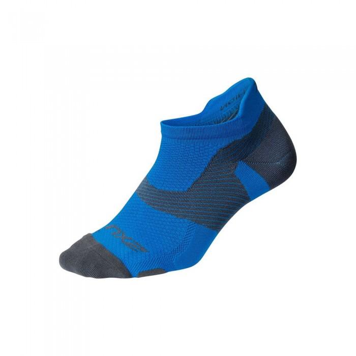 [해외]2XU Vector Ultralight Short Socks 6138231000 Vibrant Blue / Grey