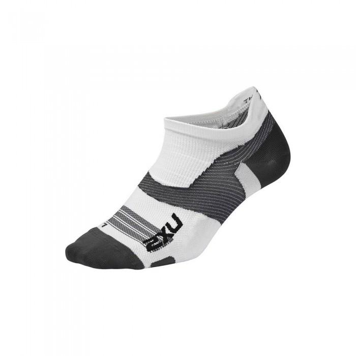 [해외]2XU Vector Ultralight Short Socks 6138231001 White / Grey