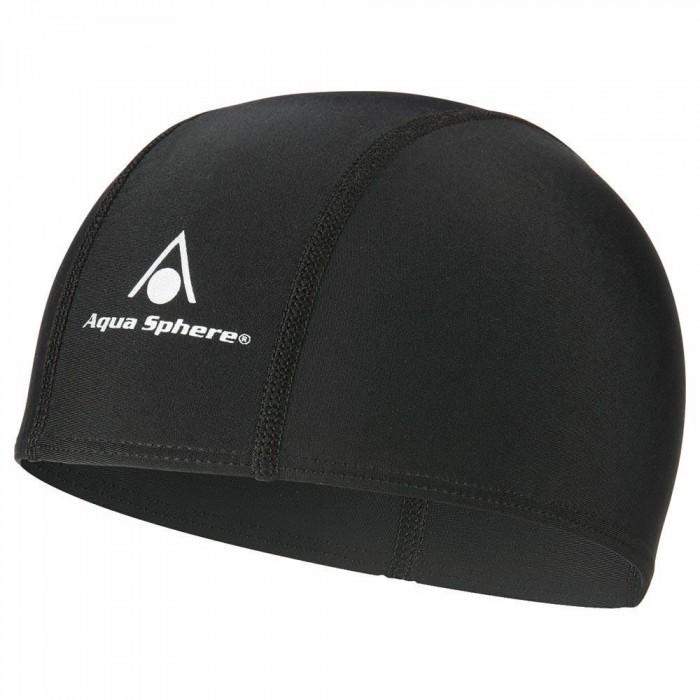 [해외]아쿠아스피어 Aqua Fit Swimming Cap 6136428511 Black