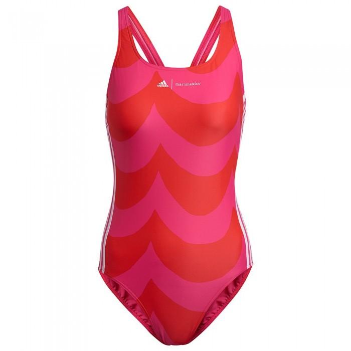 [해외]아디다스 SH3.RO Swimsuit 6138108366 Team Real Magenta / Vivid Red