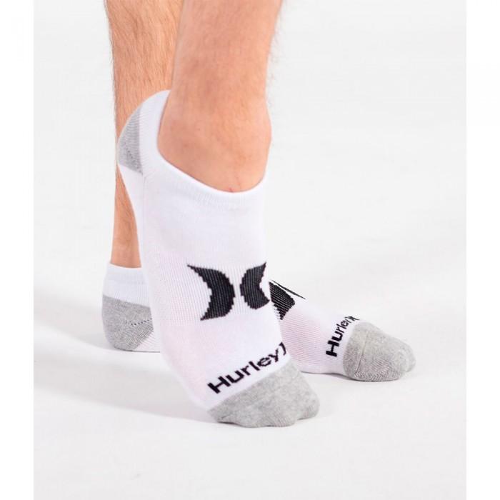 [해외]헐리 Icon Low Cut 3 Pair Socks 14138238576 White / Multi