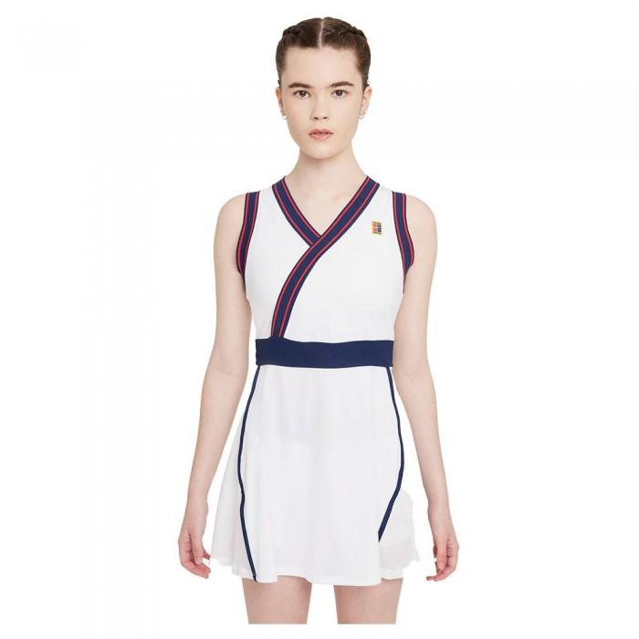 [해외]나이키 Court Dri Fit Slam Dress 12138126039 White / White / Binary Blue
