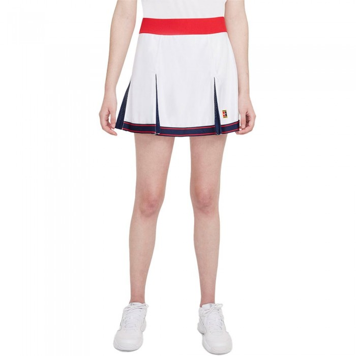 [해외]나이키 Court Dri Fit Slam Skirt 12138126054 White / University Red / Binary Blue