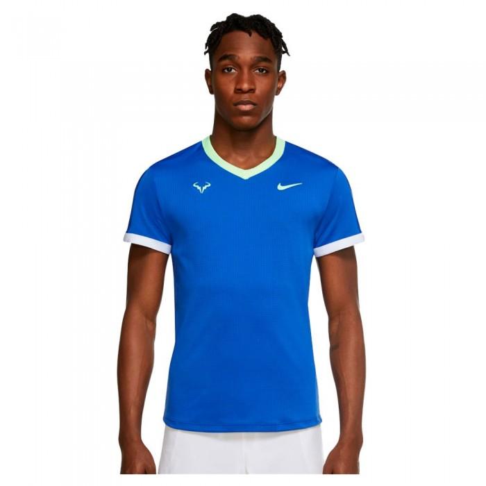 [해외]나이키 Court Dri Fit Advantage Rafa Short Sleeve T-Shirt 12138125793 Hyper Royal / Lime Glow / White / Lime Glow