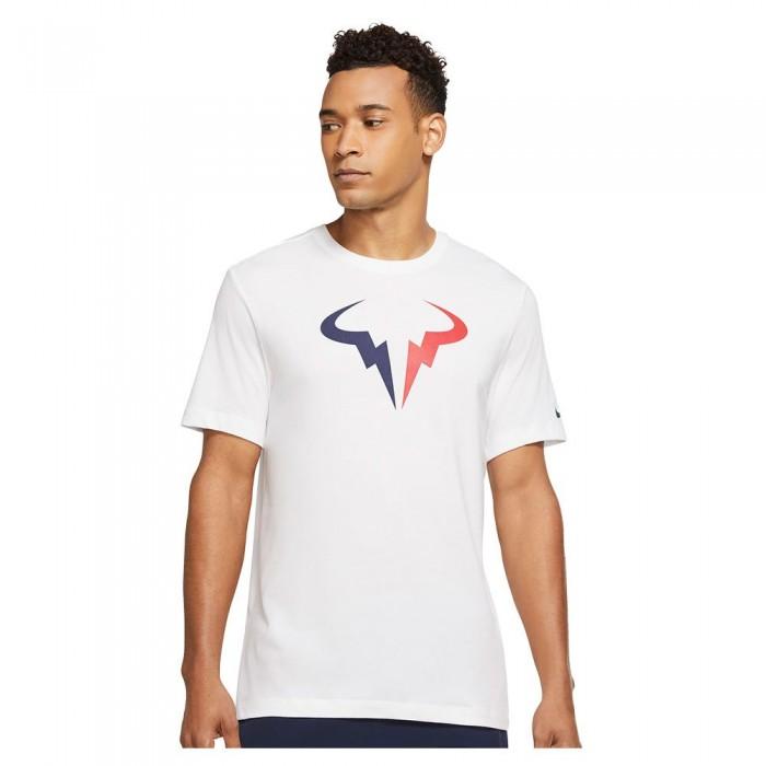 [해외]나이키 Court Dri Fit Rafa Seasonal Short Sleeve T-Shirt 12138125905 White / Binary Blue / University Red