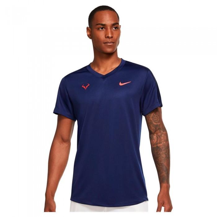 [해외]나이키 Court Rafa Challenger Short Sleeve T-Shirt 12138126173 Binary Blue / Chile Red
