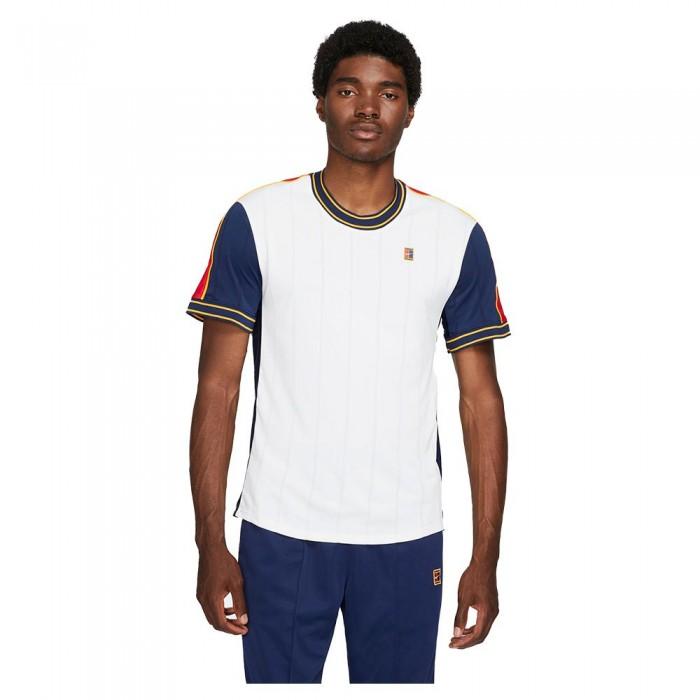 [해외]나이키 Court Dri Fit Slam Short Sleeve T-Shirt 12138126235 White / University Red / Binary Blue