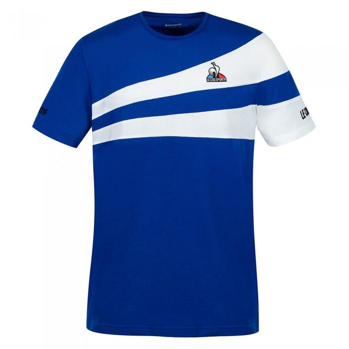 [해외]르꼬끄 Tennis 21 Nº1 Short Sleeve T-Shirt 12138226064 Electro Blue