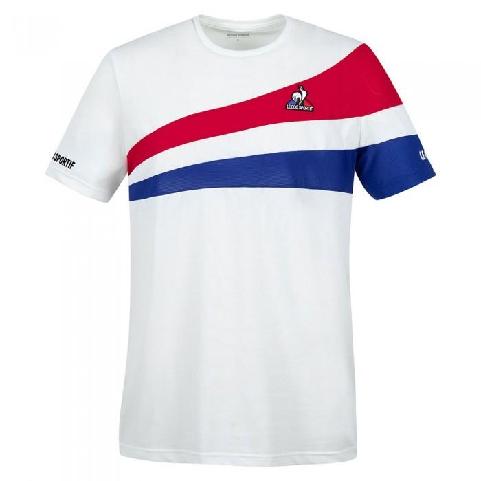 [해외]르꼬끄 Tennis 21 Nº1 Short Sleeve T-Shirt 12138226066 N.O.W / Blue Electro / Red Electro