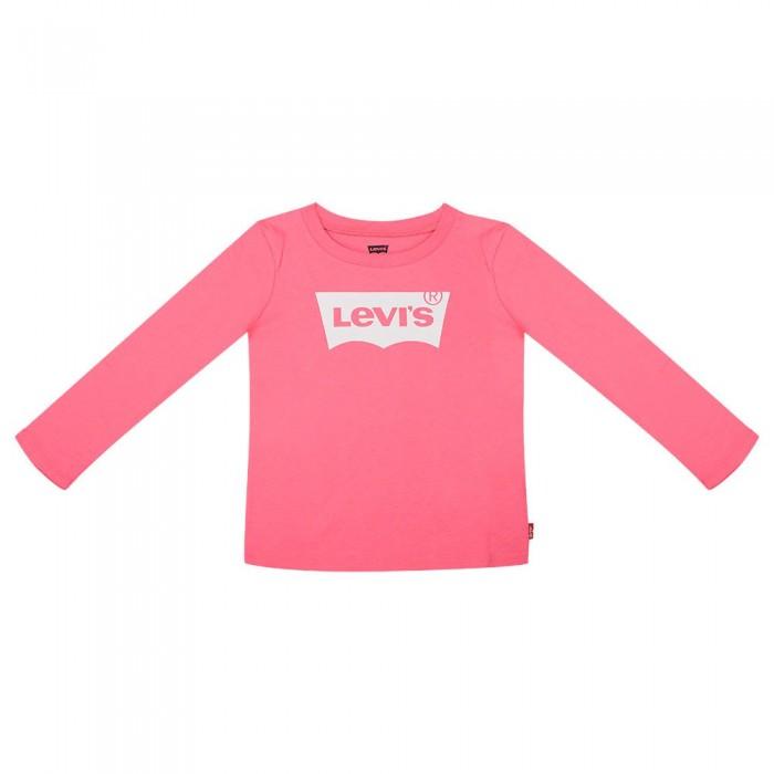 [해외]리바이스 ? KIDS Batwing Long Sleeve T-Shirt 15138005388 Camellia Rose