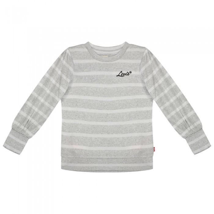 [해외]리바이스 ? KIDS Full Long Sleeve T-Shirt 15138145847 Light Grayheather