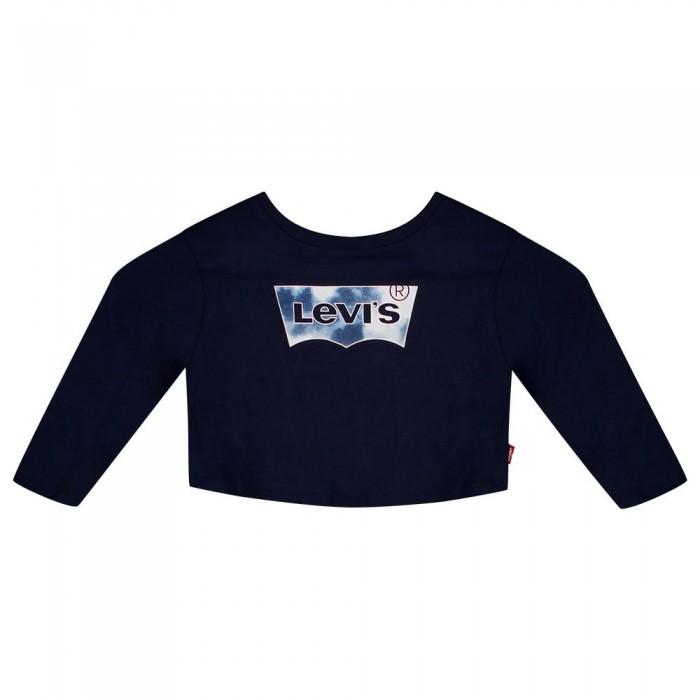 [해외]리바이스 ? KIDS Cropped Long Sleeve T-Shirt 15138145871 Peacoat